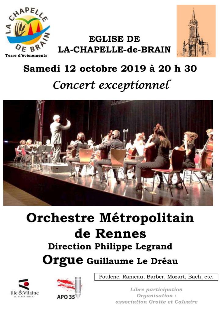 Affiche Chapelle de Brain 2019-10-12
